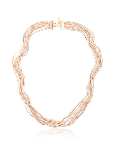 Tuleste Market Snake Multi-Strand Necklace, Rose Gold