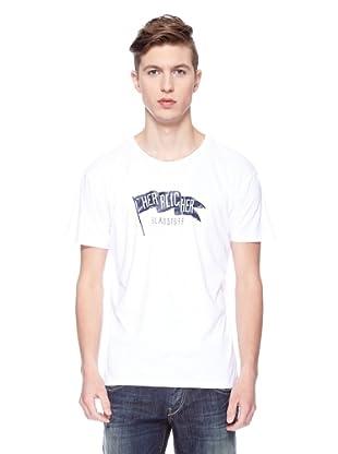 Herrlicher Camiseta Print Logo (Blanco)