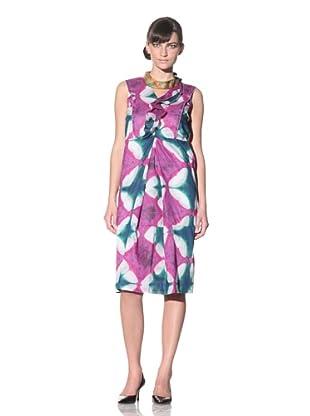 MARNI Women's Sleeveless Dress with Ruffle (Rose Lemon)
