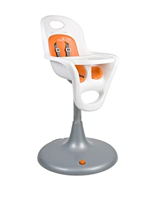 Boon Flair Pedestal Highchair with Pneumatic Lift (Coconut Seat/Tangerine Pad)