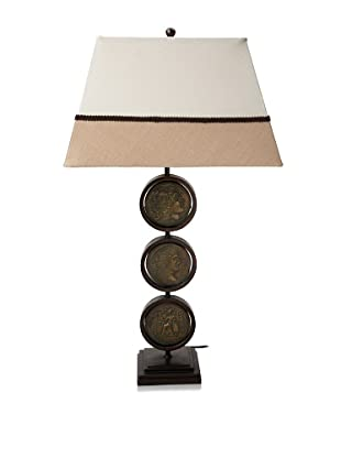 Pacific Coast Lighting Roman Coins Table Lamp