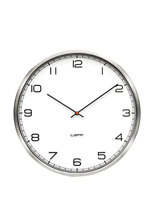 Leff Amsterdam Stainless Steel Arabic Clock, White