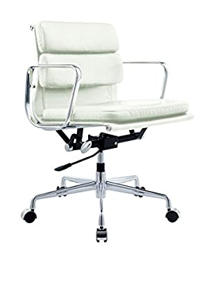 Lo+deModa Silla Soft Little Emes Italian Piel Blanco