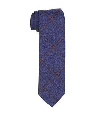 Desanto Men's Grid Scozia Tie, Blue