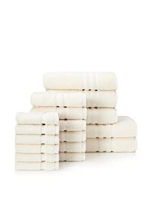 Chortex Irvington 17-Piece Towel Set, Cream