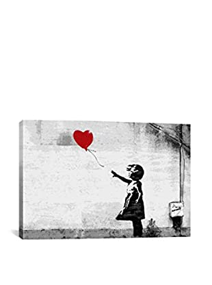 Banksy Girl With A Balloon Gallery Wrapped Canvas Print, Multi, 40