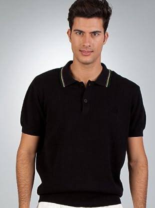 Le Coq Polo Rayas (Negro)