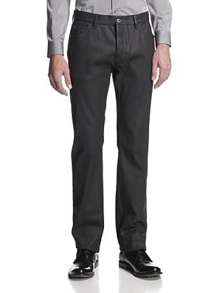 Calvin Klein Collection Men's Waxed Slim Fit Jean (Black)