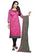 Shree Vardhman Pink Chanderi Straight Unstiched Salwar Suit Dress Material