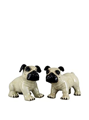 Oriental Danny Pair of Standing Bulldogs