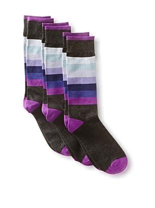2xist Men's Dress Crew Socks - Gradient - 3 Pack (Dark Grey)