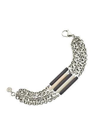 Nomination Armband Cherie weiß/anthrazit
