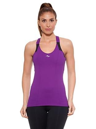 Naffta Camiseta Tirantes Pune (Púrpura / Negro)