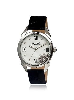 Bertha Women's BR2403 Queen Black/White Leather Watch