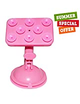 HOLI SMART SPIDER 360 Degree Rotatable Mobile Phone Multi Function Placing Plate(PINK)