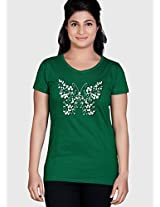 Green Printed T Shirt Tantra