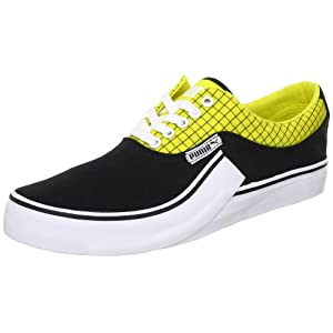 Puma Men's Villian S Black and Blazing Yellow Sneakers - 10UK/India (44.5EU)