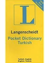 Turkish Langenscheidt Pocket Dictionary