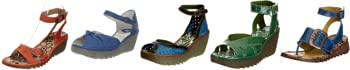 Fly London Women's Oreo Leather Wedge Heels