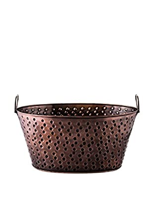 Old Dutch International 4-Gallon Antique Hammered Copper Party Tub