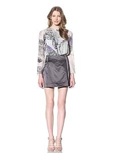 Chloé Women's Silk Charmeuse Mini Skirt (Dark/Grey)