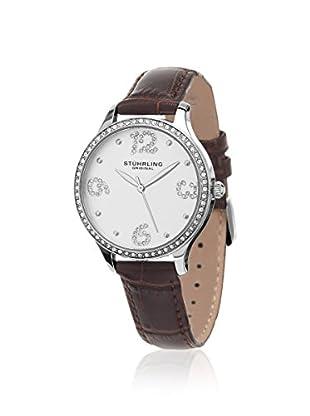 Stührling Women's Chic 560 Vogue Dark Brown/Silver 316L Surgical Grade Stainless Steel Watch