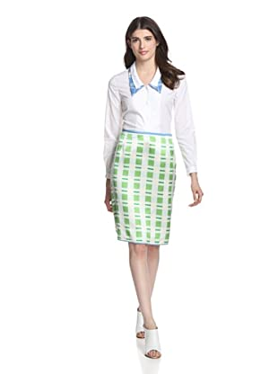 Thom Browne Women's Scallop Skirt (Light Blue)