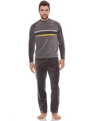 Abanderado Pijama Yellow Line (Gris Vigore / Gris Oscuro)
