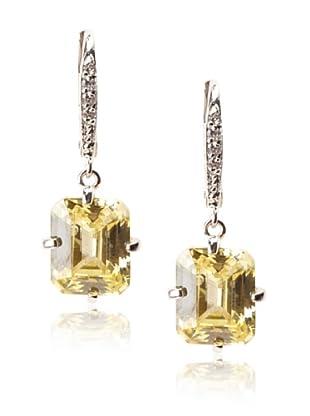 CZ By Kenneth Jay Lane Small Emerald-Cut Drop Earrings