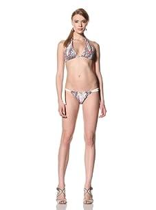 diNeila Women's Triangle Bikini Top & Bottoms (Snake)