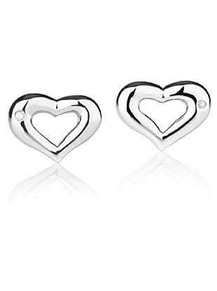 Secret Diamonds 60250002 - Pendientes de mujer de plata de ley con 2 diamantes