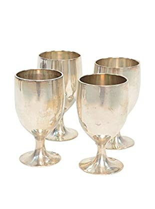 Set Of 4 Silver Plated Cups,