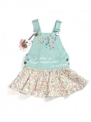 My Doll Kleid mit Latz (türkis/vanille)