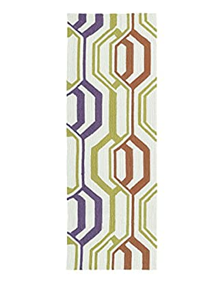 Kaleen Escape Indoor/Outdoor Rug, Multi, 2' x 6' Runner