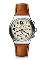 Swatch Brown Men Chronograph Watch YVS408