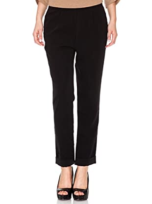 INDI Pantalón Cintura Engomada (Negro)