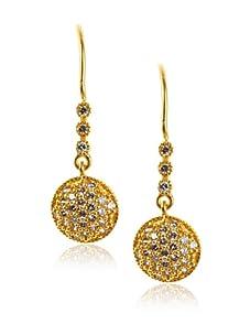 Belargo Women's Pave Drop Earrings, Gold