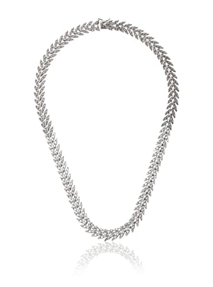 Cubic Zirconia by Kenneth Jay Lane Feather Necklace