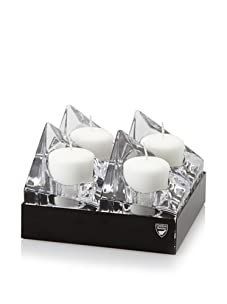 Orrefors Edgy Votive 4-Pack, Black Box