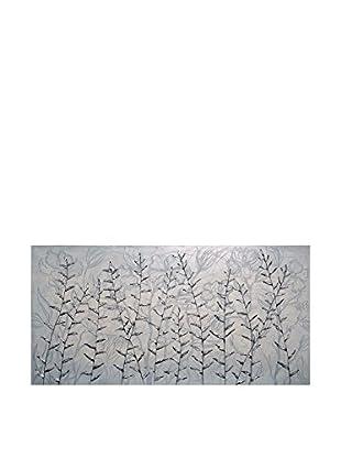 Concept Luxury Wandbild Branches silber/grau
