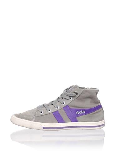 Gola Kid's Quiff High (Grey/Purple)