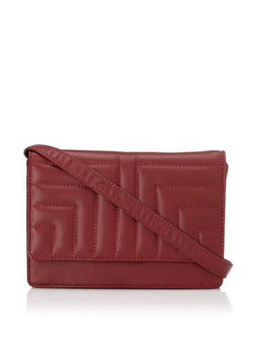 Tuleste Women's Lee Quilted Mini Convertible Clutch (Ruby)
