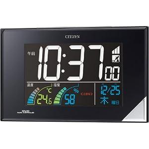 【クリックで詳細表示】CITIZEN(シチズン) 電波デジタル時計 AC電源タイプ カラー表示 温度・湿度表示付 熱中症、食中毒、インフルエンザ、カビ・ダニ注意の液晶表示機能付 8RZ119-002 8RZ119-002