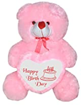 Rushi Enterprise 2 Feet Big With Birthday Heart Stuffed Soft Plush Toy Kids Teddy Bear (Pink)