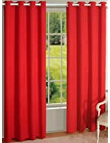 House This 100% Cotton 1 Door Curtain Aztec Red