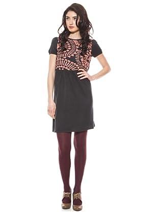 La Casita de Wendy Vestido Bicolor (Negro/Rosa)