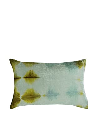 Kevin O'Brien Studio Hand-Painted Devore Velvet Rorschach Pillow (Blue Ice)