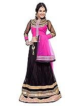 Manvaa Women's Lehenga Choli (OJS3061A_Black_XX-Large)