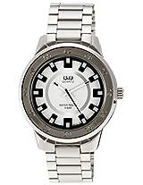 Q&Q Regular Analog White Dial Men's Watch - Q870J201Y