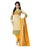 vaamsi cotton polyester mix dress material (Cocp47_Yellow_Free Size)